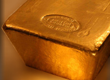 Lingote de oro puro