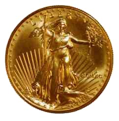 Moneda de oro Eagle